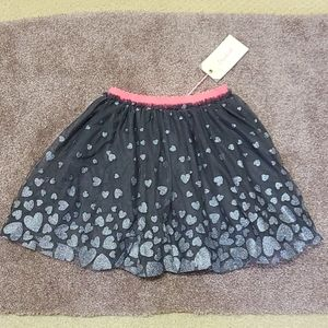 NWT Billieblush silvery heart skirt 5